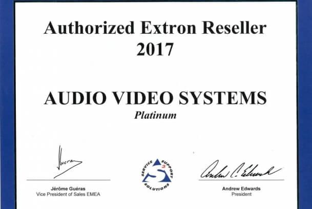 Нам присвоен статус Platinum Extron Partner